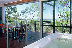 Luxury spa and deck with panoramic views